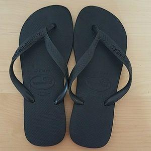 Haviana Top Black Sandals